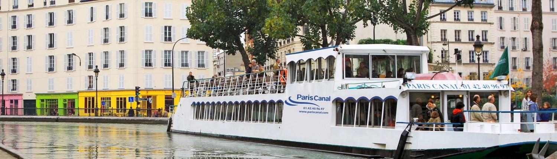 Péniche-Bateau-Paris-Canotier-Canal Saint Martin